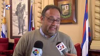 Intendente Caraballo se reunió con el Jefe de Policía por tema seguridad