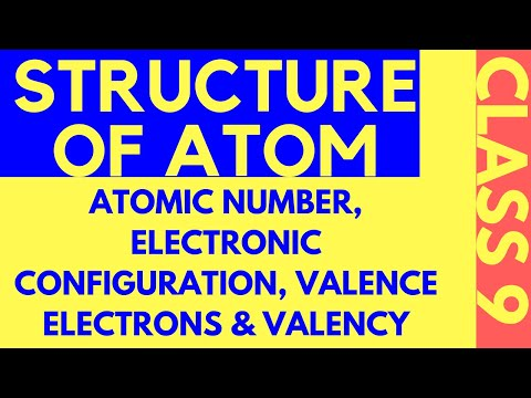 STRUCTURE OF ATOM | CLASS 9 |ATOMIC NUMBER, ELECTRONIC CONFIGURATION, VALENCE ELECTRON, VALENCY