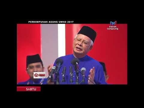 Najib Razak : Ucapan Penggulungan Perhimpunan Agung UMNO 2017