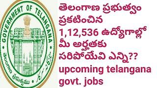 Upcoming Telangana govt. jobs || govt. has announced one lakh above jobs || upcoming tspsc jobs