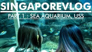SINGAPORE VLOG PART 1 JALAN2 DI SEA AQUARIUM, USS Bahasa Indonesia