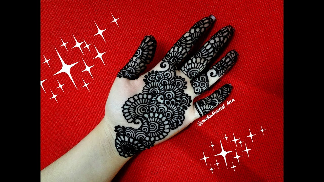 Easy trendy simple palm henna mehndi design tutorial for hands for  beginners for eid,diwali,weddings