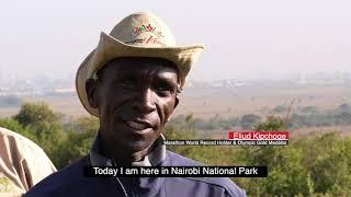 Eliud Kipchoge at Nairobi National Park