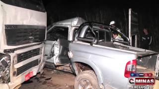 Grave acidente deixa duas vítimas fatais no trevo de Juruaia/MG