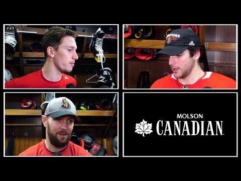 Sens vs. Oilers - Players Pre-game