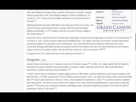 Wikipedia Of Grand Canyon University