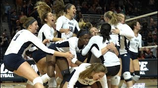 The Rice Owls volleyball team defeats Texas for the first time in history