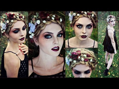 Goth Makeup for Halloween! Striking Vampire, Zombie or Dead Flapper - Jackie Wyers