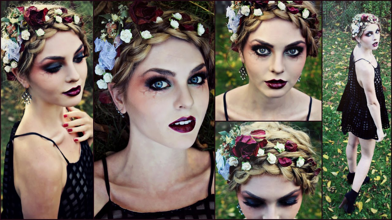Goth Makeup For Halloween Striking Vampire Zombie Or