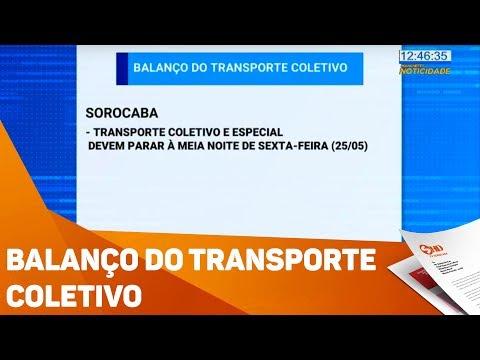 Balanço do transporte coletivo - TV SOROCABA/SBT