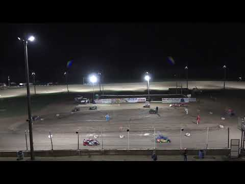 A Feature 1 (10 Laps): 86T-Tim Painter Jr, 11-Delano Hale, 21-June Dora, 27P-Peyton Cunningham, 23V-Mason VanderVeen, 27K-Kylie Watz, 11B-Coleman ... - dirt track racing video image