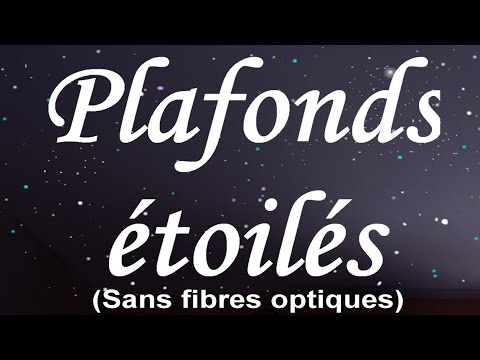 Plafonds toil s sans lectricit youtube for Fibre optique deco