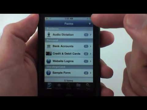 Tap Forms Database IPhone App Review - AppCalendar.com