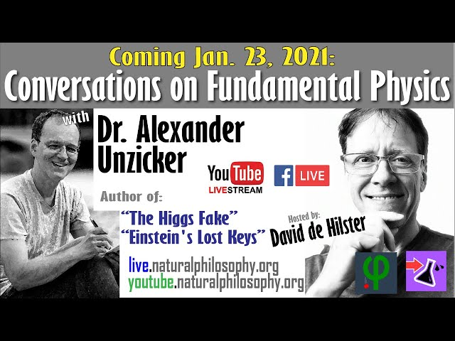 Author Dr. Alexander Unzicker: Converations on Fundemental Physics