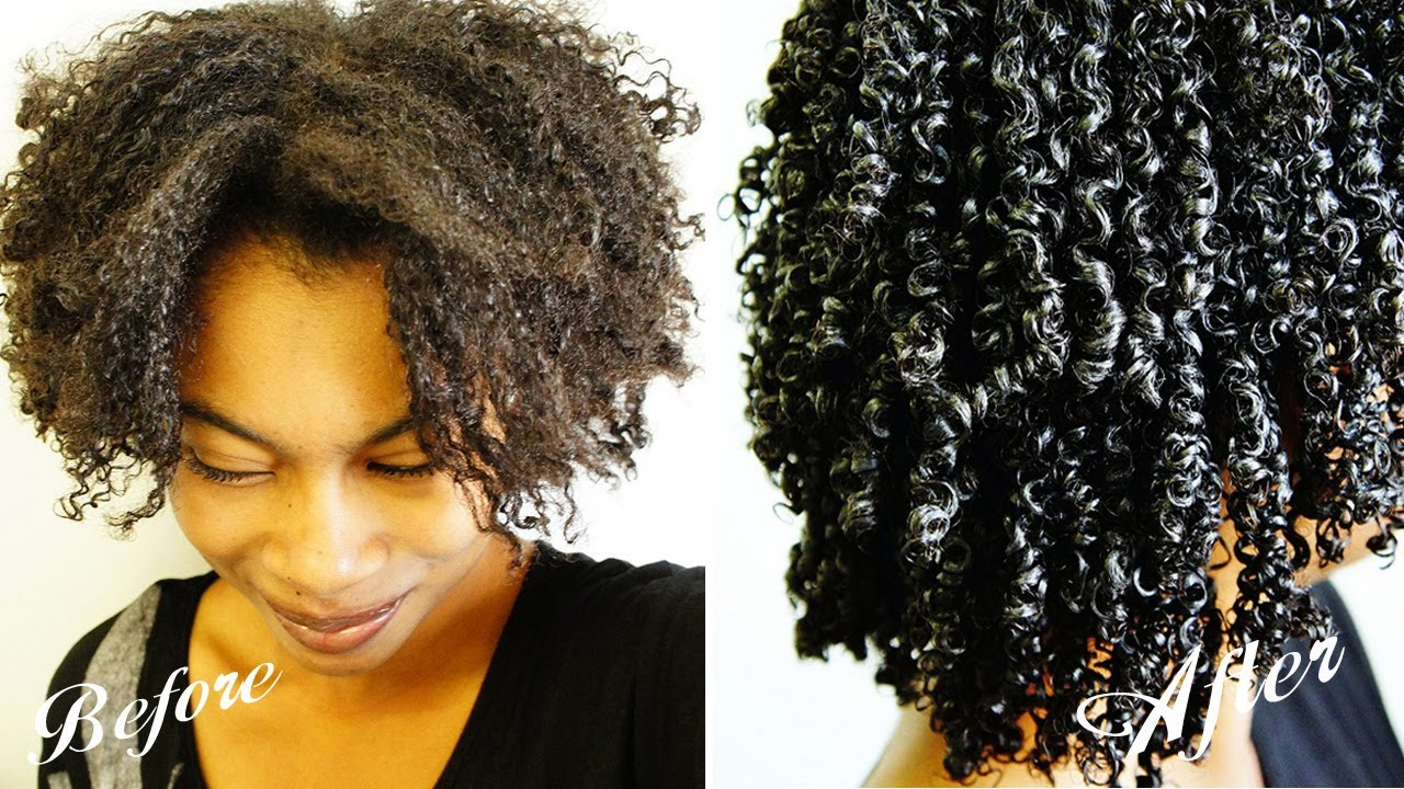 Natural hair curling techniques