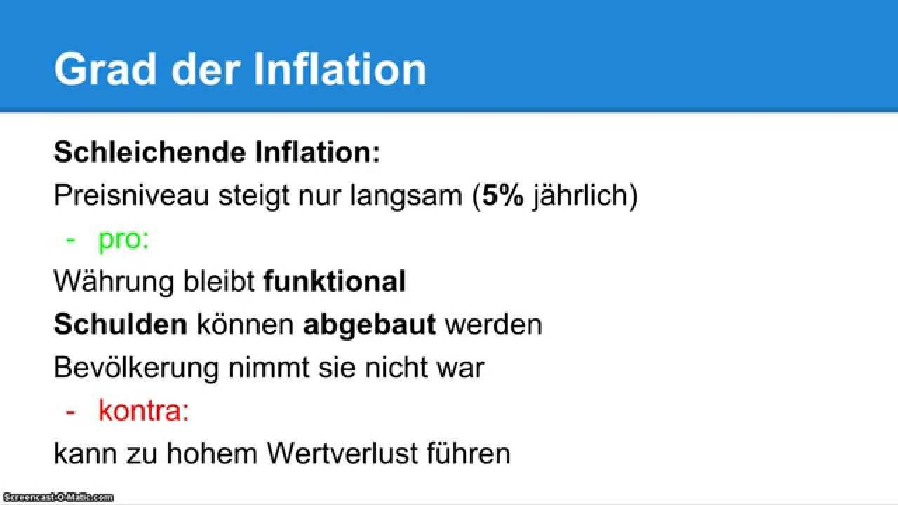 inflation definition erkl rung bwl einfach erkl rt youtube. Black Bedroom Furniture Sets. Home Design Ideas