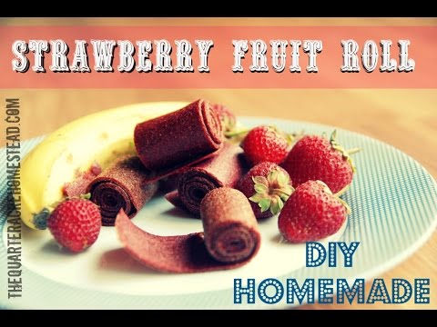 How to Make Strawberry Fruit Leather (Healthy Kid Snacks)
