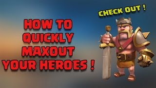 How to Quickly Level Up Your Heroes to Max | Guide for TH9 DE Farming | Clash of Clans India
