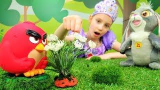 София Прекрасная - Игрушки Энгри Бердз ищут цветы спокойствия