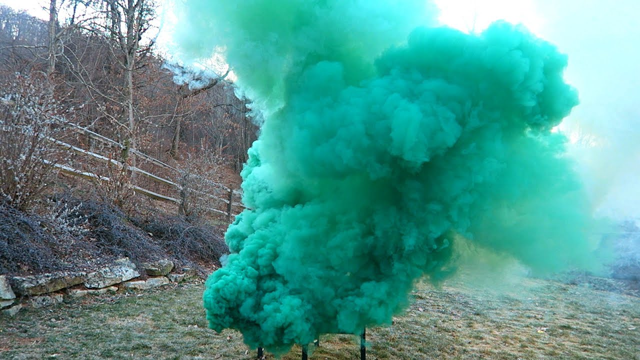 Airsoft Smoke Grenade Test - Burst Smoke Grenades