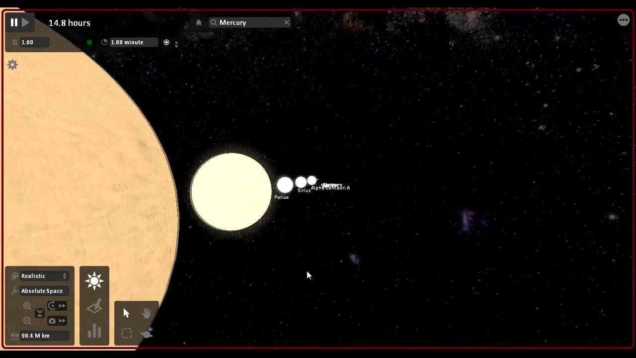 Universe Sandbox - Star Size Comparison - YouTube