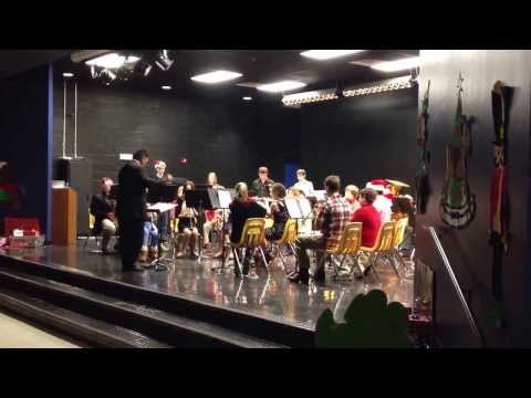Red Lick middle school 7th and 8th grade band playing Fanfare for the Holiday
