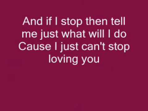 Michael Jackson I Just Can't Stop Loving You *WITH LYRICS!*