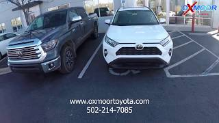 Driving the new 2019 Toyota Rav4 XLE AWD with description of features form Oxmoor Toyota Louisville