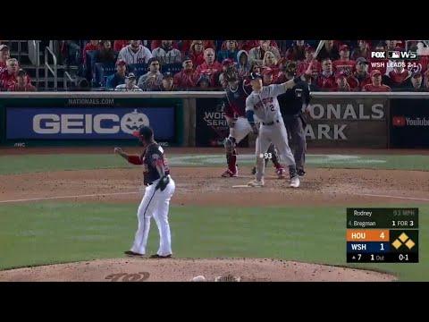 Alex Bregman Grand Slam vs Nationals   Astros vs Nationals World Series Game 4