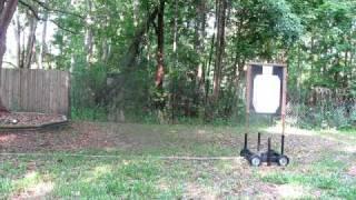 Moving target for gun range