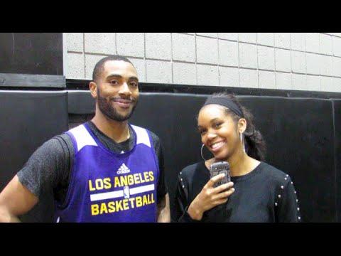 Los Angeles Lakers Wayne Ellington Interview - YouTube