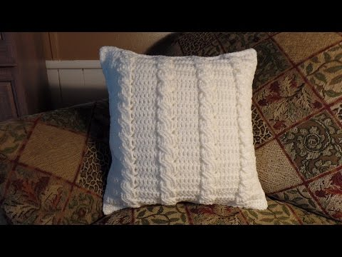 CROCHET How to #Crochet Cable Stitch Throw Accent Pillow #TUTORIAL #285 supersaver