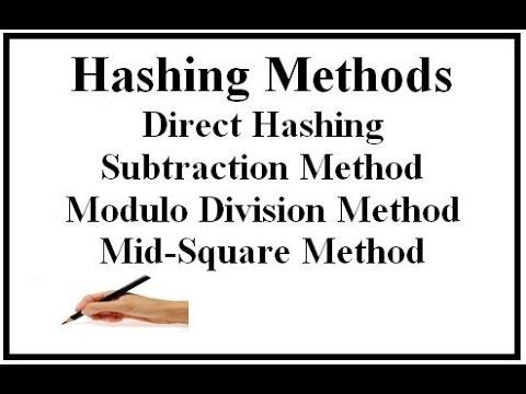 Hashing Method part 1