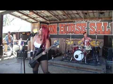 Jasmine Cain Ironhorse Saloon Biketoberfest 2012 - AC/DC Dirt Deeds