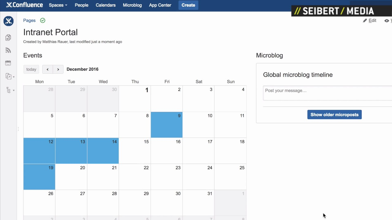 how to create an event calendar in atlassian confluence youtube