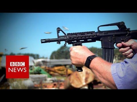 Las Vegas shooting: Rate of fire - inside America's arsenal - BBC News