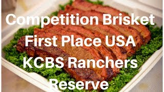 Cooking Competition Brisket 1st Place KCBS Ranchers Reserve Smoky Okie Injection Harry Soo