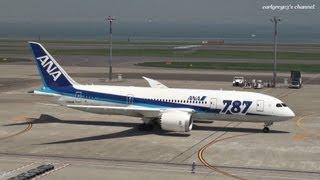 ANA ボーイング787-8 出発から離陸まで 羽田空港 JA808A 2012.4.29