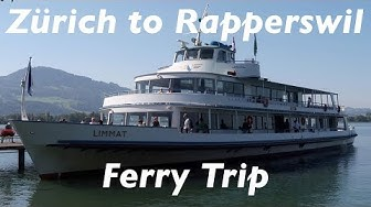 Zurich to Rapperswil ferry trip on the MS Limmat