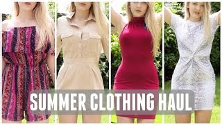 HUGE TRY ON Summer Clothing Haul 2016- Missguided, River Island, Pretty Little Thing + More!