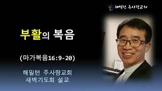 [마가복음16:9-20 부활의 복음] 황보 현 목사 (2021년6월12일 새벽기도회)