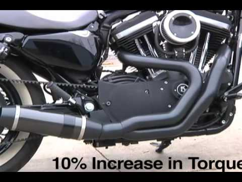 sportster thunderheader exhaust harley forty eight doovi. Black Bedroom Furniture Sets. Home Design Ideas