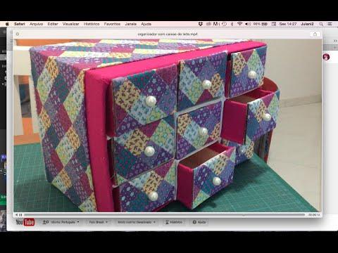 DIY - Organizador porta-trecos #parte 2 ✂️ Artesanato #27