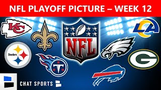 Nfl playoff picture for the nfc and afc as enters week 12 of 2020 season. wild card race is heating up only jets have been el...