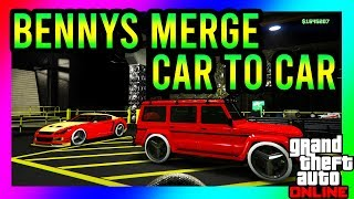 *NEW* BENNYS MERGE GLITCH!!! *CAR TO CAR * SUPER EASY GET BENNYS WHEELS ON ANY CAR!! PS4/XBOX/PC