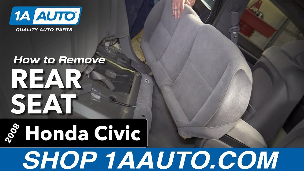 How To Replace Rear Seat 05 11 Honda Civic Youtube