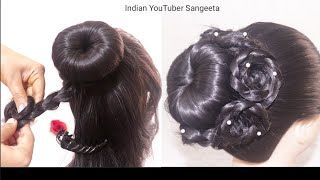 Juda hairstyle for Wedding/party || Hairstyles girl || Perfect Bridal Bun step by step || hairstyle