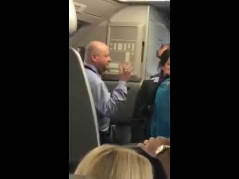 Altercation on board American Airlines flight captured on video