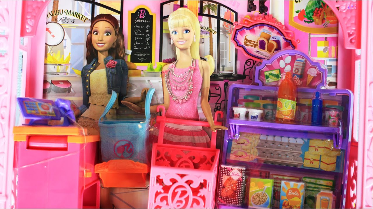 Grocery Store And Doll Playset Market Barbie Malibu