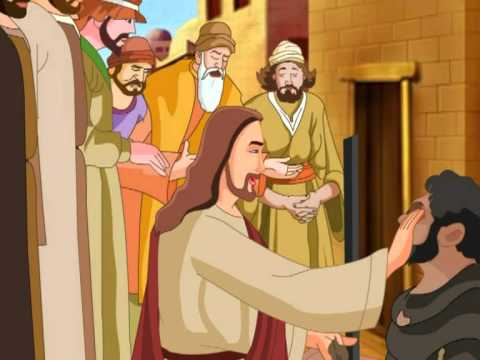 Jesus Heals The Blind Man Animation Video - YouTube